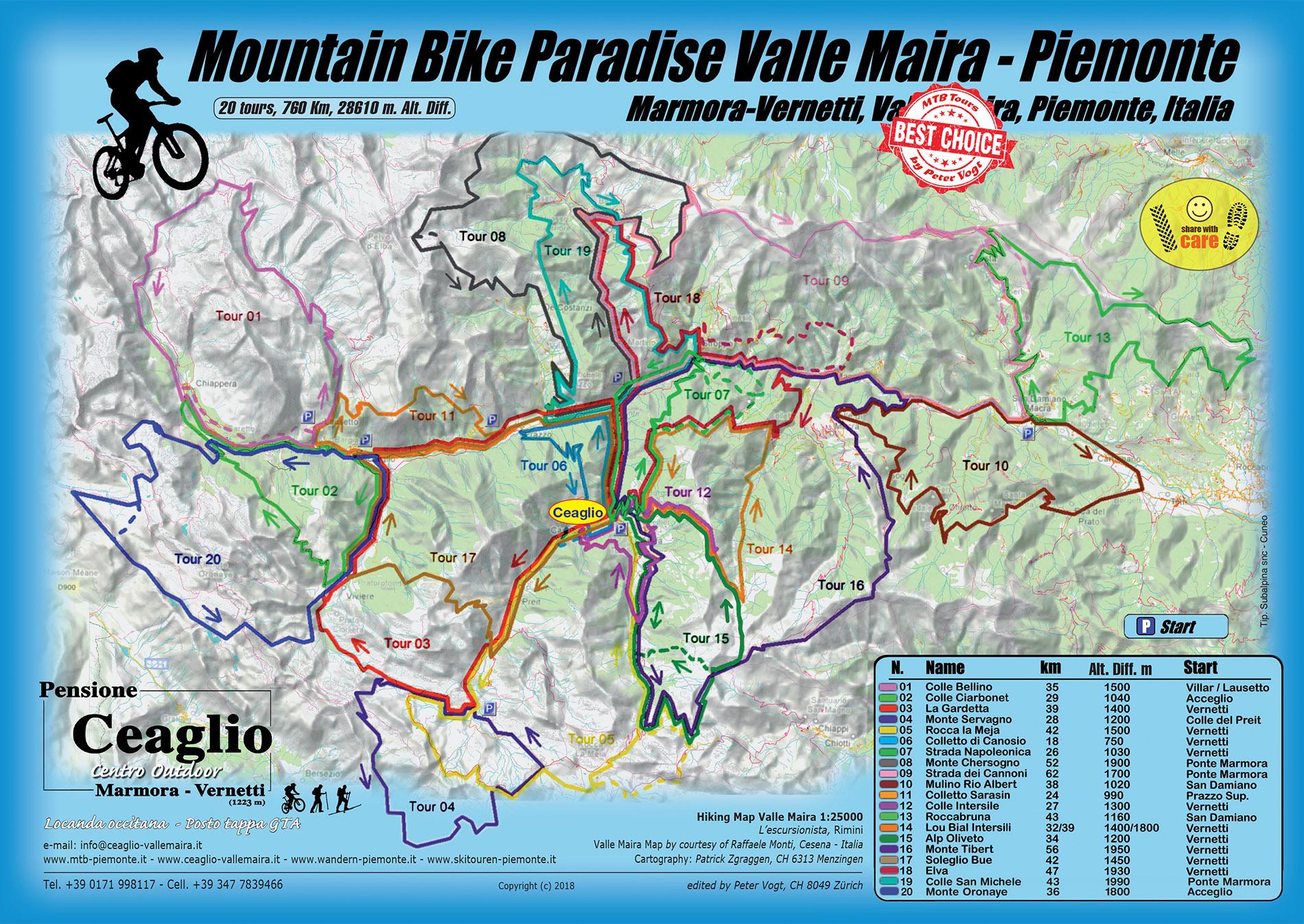 Cartina Militare Piemonte.Mountain Bike Paradise Mtb Piemonte